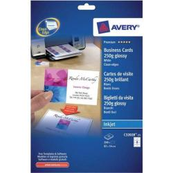 Cheap Stationery Supply of Avery Inkjet Business Cards 250gsm (White) Pack of 25 C32028-25 Office Statationery