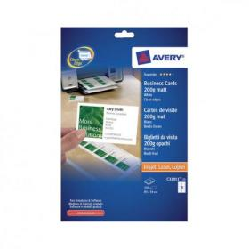 Avery Quick and Clean Business Cards All Printers 200gsm 10 per Sheet White Ref C32011-25UK 250 Cards