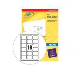 Cheap Stationery Supply of Avery (63.5 x 46.6mm) Inkjet Addressing Labels (White) 450 Labels J8161-25 Office Statationery