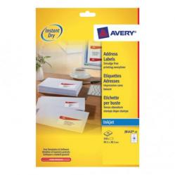 Cheap Stationery Supply of Avery Quick DRY Addressing Labels Inkjet 14 per Sheet 99.1x38.1mm White J8163-25 350 Labels Office Statationery