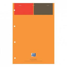 Oxford Int Refill Pd Hbd 80gsm Smart Ruled Perf Punch 4 Holes 160pp A4 Orange/Grey Ref 100102359 Pack of 5