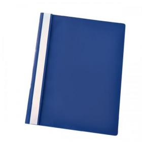 Esselte Report Flat Bar File Polypropylene Clear Front A4 Dark Blue Ref 28315 Pack of 25