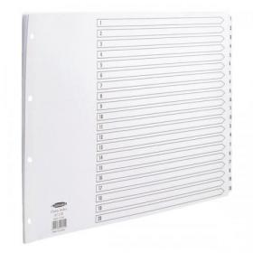 Concord Classic Index 1-20 Mylar-reinforced Punched 4 Holes 150gsm A3 Landscape White Ref 04801/CS48
