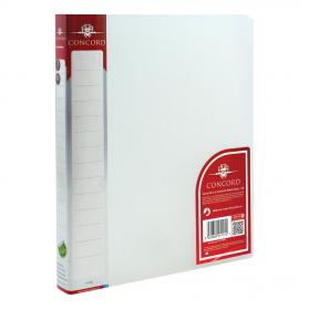 Concord Natural Ring BInder Polypropylene 2 O-Ring 15mm Size A4 Clear Ref 7117-PFL Pack of 10