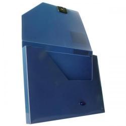 Cheap Stationery Supply of Snopake DocBox (A4) Polypropylene Box File with Push Lock 25mm Spine (Dark Blue) 12845 Office Statationery