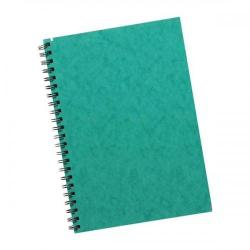 Cheap Stationery Supply of Silvine Notebook Twinwire Sidebound 75gsm Ruled Perforated 200pp A5 Green SPA5 Pack of 6 Office Statationery