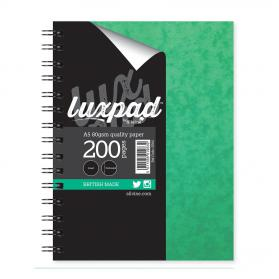 Silvine Notebook Twinwire Sidebound 75gsm Ruled Perforated 200pp A5 Green Ref SPA5 Pack of 6