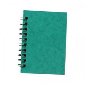 Silvine Notebook Twinwire Sidebound 75gsm Ruled 200pp A6 Green Ref SPA6 Pack of 12