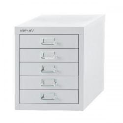 Cheap Stationery Supply of Bisley SoHo (H325mm) Multi-Drawer (5) Steel Filing Cabinet (Chalk White) H125NL-26 Office Statationery