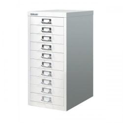 Cheap Stationery Supply of Bisley SoHo (H590mm) Multi-Drawer (10) Steel Filing Cabinet (Chalk White) H2910NL-26 Office Statationery