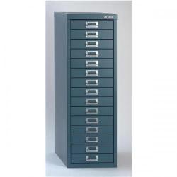 Cheap Stationery Supply of Bisley SoHo (H860mm) Multi-Drawer (15) Steel Filing Cabinet (Doulton Blue) H3915NL-74 Office Statationery