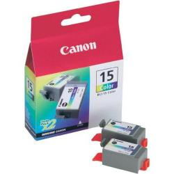 Cheap Stationery Supply of Canon BCI-15C (Colour) Ink Cartridge (Pack of 2) 8191A002 Office Statationery
