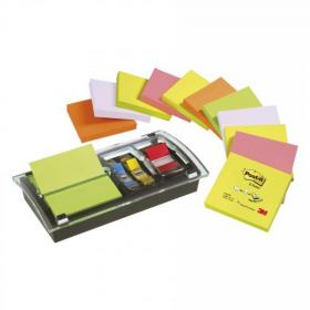 Post-it Note Value Pack 3x3 Ref DS100-VP Pack of 12 and Free Dispenser