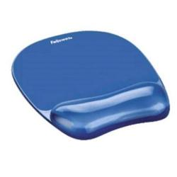 Cheap Stationery Supply of Fellowes Crystal Mouse Mat Pad with Wrist Rest Gel Blue 91141 Office Statationery