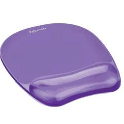 Cheap Stationery Supply of Fellowes Crystal Mouse Mat Pad with Wrist Rest Gel Purple 91441 Office Statationery