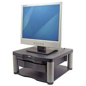 Fellowes Premium Monitor Riser Plus for 21in Capacity 36kg 5 Heights 118-168mm Graphite Ref 9169501