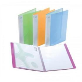 Rexel Ice Display Book Polypropylene 20 Pockets A4 Assorted Ref 2102038 Pack of 10