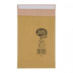 Jiffy Green Padded Bags P&S Cushioning Size 1 165x280mm Ref 01900 Pack of 25