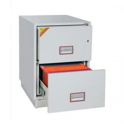 Cheap Stationery Supply of Phoenix Firefile Filing Cabinet Fire Resistant 2 Lockable Drawers 140Kg W525xD675xH720mm FS2252K Office Statationery