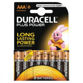 Duracell Plus Power Battery Alkaline AAA Size 1.5V Ref 81275401 Pack of 8