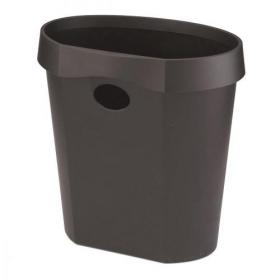 Avery DR500 Waste Bin with Rim Flat Back 18 Litres 350x250x340mm Black Ref DR500BLK