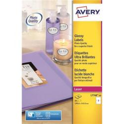 Cheap Stationery Supply of Avery L7768-40 White Glossy Colour Laser Labels Pack of 80 L7768-40 Office Statationery