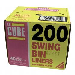 Cheap Stationery Supply of Le Cube Swing Bin Liners in Dispenser Box 46 Litre Capacity 1140x570mm 480 Pack of 200 Office Statationery