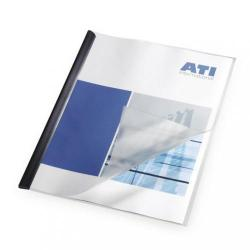Cheap Stationery Supply of Report Covers Polypropylene Capacity 100 Sheets A3 Fold to A4 Economy Clear Pack of 50 Office Statationery