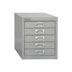 Cheap Stationery Supply of Bisley SoHo (H325mm) Multi-Drawer (5) Steel Filing Cabinet (Silver) 052 55 Office Statationery