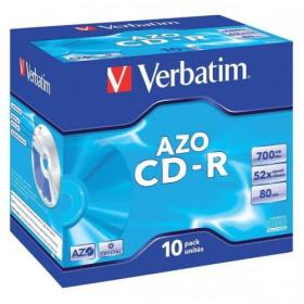 Verbatim CD-R Recordable Disk Write-once Cased 52x Speed 80 Min 700Mb Ref 43327 Pack of 10