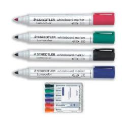 Cheap Stationery Supply of Staedtler Lumocolor 351 (2mm) Bullet Tip Whiteboard Marker (Assorted Colours) 1 x Wallet of 6 351WP6 Office Statationery