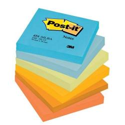 Cheap Stationery Supply of 3M Post-it Sticky Notes Mineral Rainbow 76x76 mm Assorted (6 x Pack of 100 Sheet) + FREE 2 Packs & Free Jewel Pop Notes - Offer Oct to Dec 2013 654ML-XX1 Office Statationery