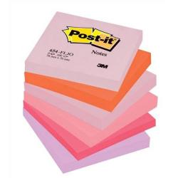 Cheap Stationery Supply of 3M Post-it Sticky Notes Floral Rainbow 76x76 mm Assorted (12 x Pack of 100 Sheet) + FREE 2 Packs & Free Jewel Pop Notes - Offer Oct to Dec 2013 654FL-XX1 Office Statationery