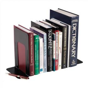 5 Star Office Bookends Large Metal Black Pack of 2
