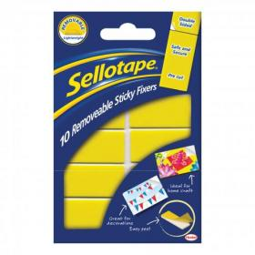 Sellotape Sticky Fixers Removable Double-sided 20x50mm 10 Pads Ref 1445286 Pack of 12