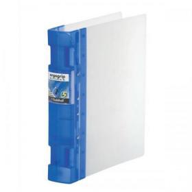 Guildhall GLX Ergogrip Binder Capacity 400 Sheets 4x 2 Prong 55mm A4 Frost Cobalt Blue Ref 4542 Pack of 2