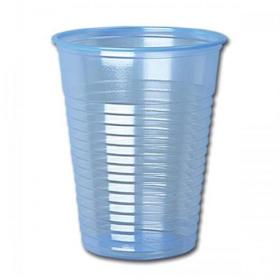 Water Cups Plastic Non Vending for Cold Drinks 7oz 207ml Clear Blue Pack of 1000