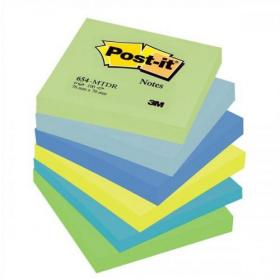 Post-it Colour Notes Pad of 100 Sheets 76x76mm Dreamy Palette Rainbow Colours Ref 654MTDR Pack of 6
