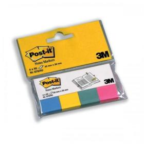 Post-it Note Markers 50 each of  Yellow Pink and Green Ref 6704U Pack of 4
