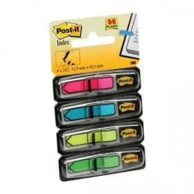 Post-it Index Arrows Repositionable W12xH43mm 4 Bright Colours Ref 684ARR4 Pack of 96