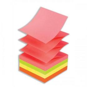 Post-it Z-Notes 76x76mm Neon Rainbow Ref R330NR Pack of 6