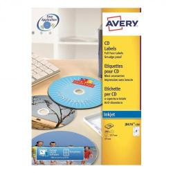 Cheap Stationery Supply of Avery CD/DVD Labels Inkjet 2 per Sheet Dia.117mm Easy Application White J8676-100 200 Labels Office Statationery