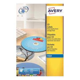 Avery CD/DVD Labels Laser 2 per Sheet Dia.117mm Full Face Opaque White Ref L7676-100 200 Labels