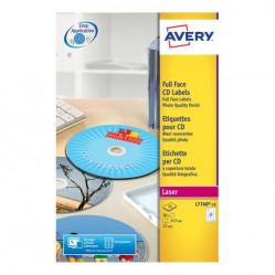 Cheap Stationery Supply of Avery CD/DVD Labels Laser 2 per Sheet Dia.117mm High Glossy White L7760-25 50 Labels Office Statationery