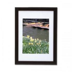5 Star Facilities Snap Picture or Certificate Frame Polystyrene Front Back-loading A4 297x210mm Black