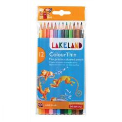 Cheap Stationery Supply of Lakeland Colour Thin Colouring Pencils Hexagonal Barrel Hard-wearing Wallet Asstd 0700077 Pack of 12 Office Statationery