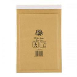 Cheap Stationery Supply of Jiffy Mailmiser (Size 1) Protective Envelopes Bubble-lined 170x245mm Gold (1 x Pack of 100 Envelopes) JMM-GO-1 Office Statationery