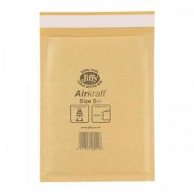 Jiffy Airkraft Bubble Bag Envelopes Size 0 Gold 140x195mm Gold Ref JLGO0 Pack of 100