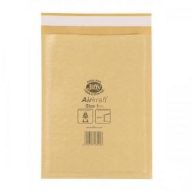 Jiffy Airkraft Bubble Bag Envelopes Size 1 170x245mm Gold Ref JL-GO-1 Pack of 100