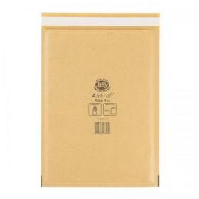 Jiffy Airkraft Bubble Bag Envelopes Size 3 220x320mm Gold Ref JL-GO-3 Pack of 50